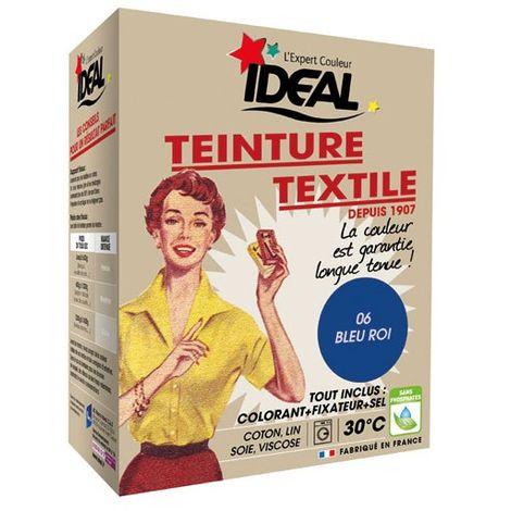 IDEAL - Teinture textile bleu roi Tout en un - 350 g