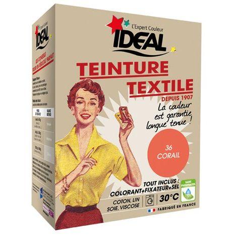 IDEAL - Teinture textile corail Tout en un - 350 g