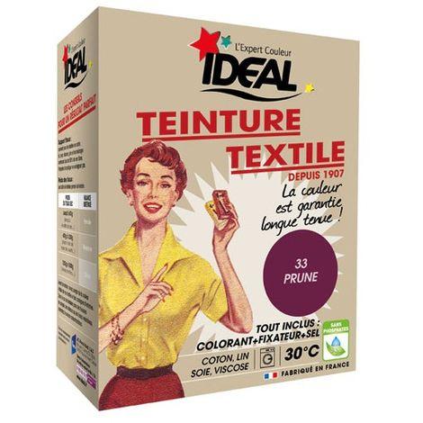 IDEAL - Teinture textile prune Tout en un - 350 g