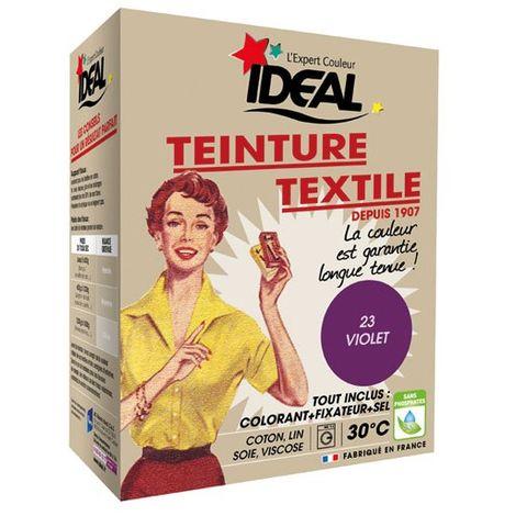 IDEAL - Teinture textile violet Tout en un - 350 g
