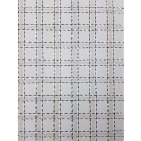 Ideco Home Checked Beige/ Cream Wallpaper