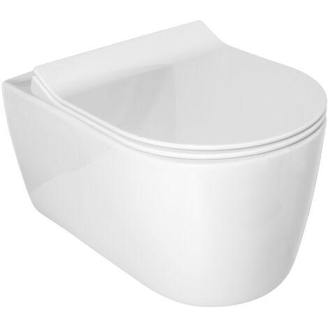 Idevit Alfa cuvette seule sans bride WC suspendu avec fixations invisibles (AL010)