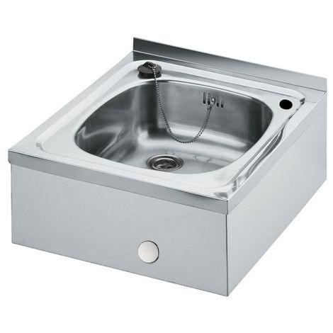Idral Fregadero lavamanos en acero inox 450×500 para montaje a pared 09160/0 | cromado brillante