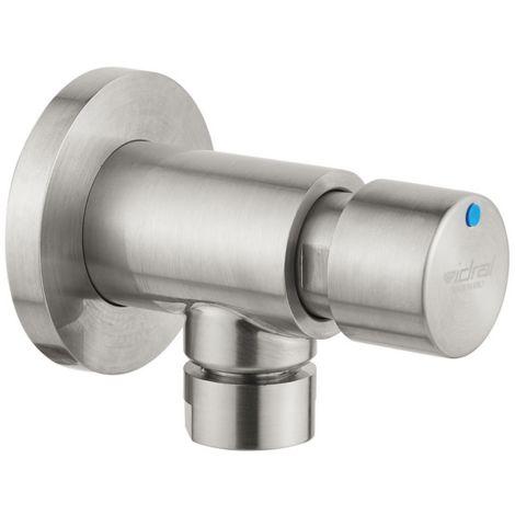 Idral Grifo temporizado para urinario mural con pulsador en acero inox 08420/1 | Inox