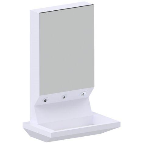 Idral Lavabo de pared multifuncional en solid surface 4ALL 10565 | Blanco brillo