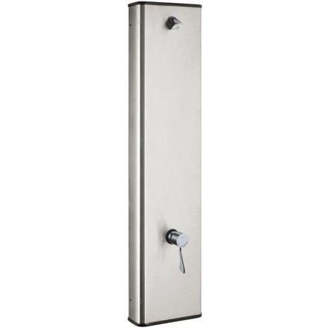 Idral Panneau de douche mural en acier inoxydable avec mitigeur thermostatique progressif et levier de commande clinique 900.92 | chrome