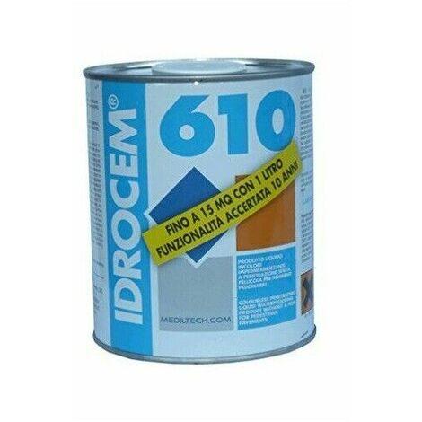 Idrocem 610 latta lt 5 impermeabilizzante trasparente per terrazzi e balconi
