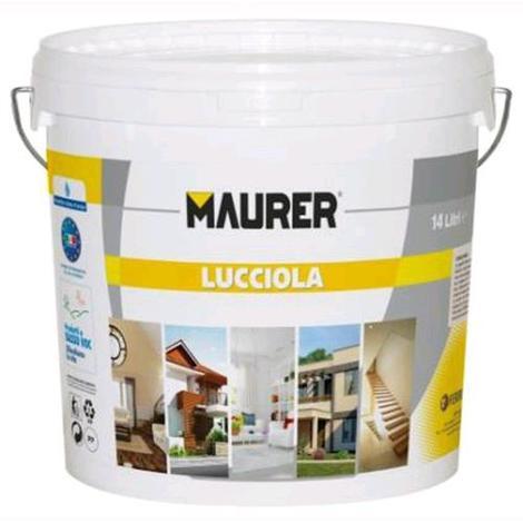 Idropittura TRASPIRANTE Mod. LUCCIOLA 5 Litri MAURER Colore Bianco