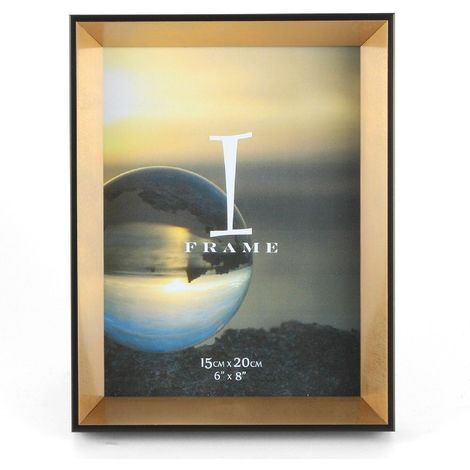 iFrame Black & Gold Photo Frame 6' x 8'