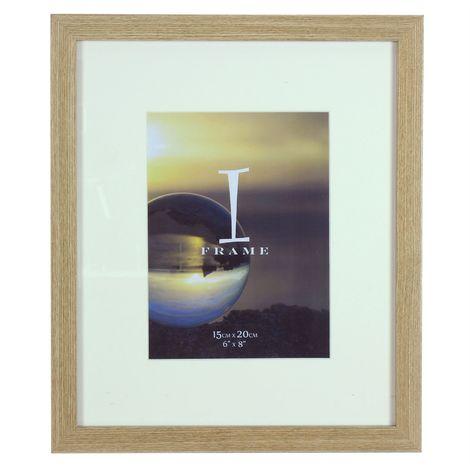 iFrame Light Oak Wood Effect Frame 6' x 8'