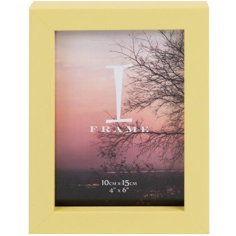 iFrame Plastic Yellow Photo Frame 4' x 6'