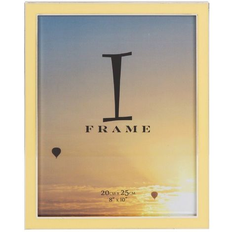 iFrame Silverplated Yellow Epoxy Photo Frame 8' x 10'