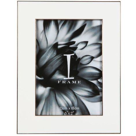iFrame White Photo Frame w/ Gold Insert 5' x 7'