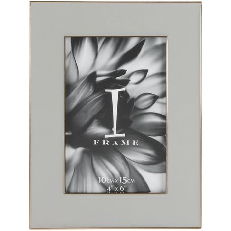 iFrame Zinc Alloy Grey Epoxy Photoframe 4' x 6'