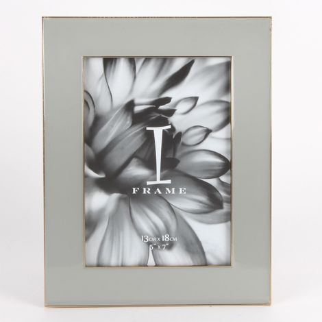iFrame Zinc Alloy Grey Epoxy Photoframe 5' x 7'