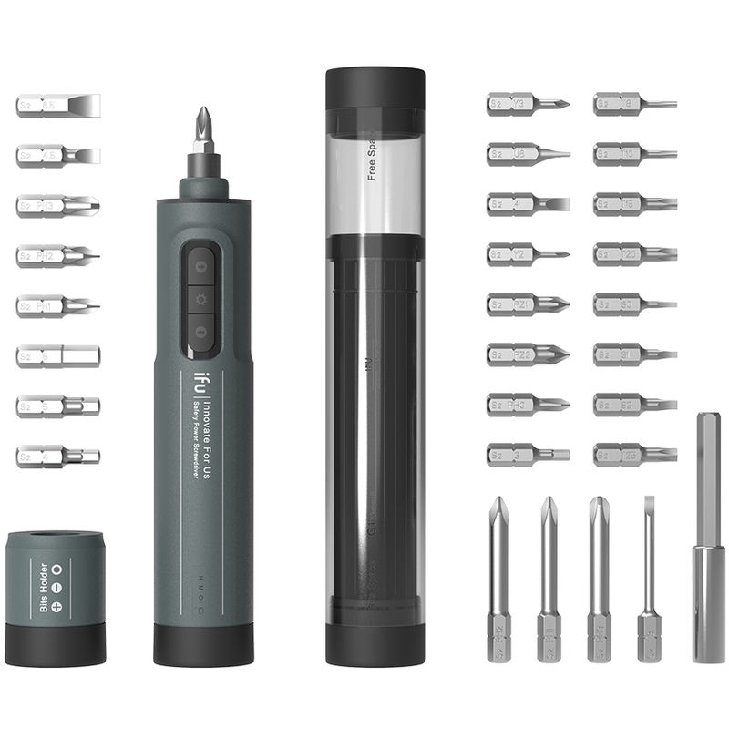 Image of iFu 6.3mm Electric Screw Driver Safety Power Lithium Electric Screwdriver 3 Speed LED Lights Compact Rechargeable Electromotion Screwdriver