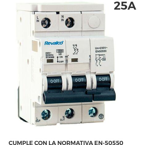 IGA 2P 25A C 10KA PROT.SOBRETENSION PERMANENTE SEGUN NO RMATIVA EN-50550 Y TRANSITORIO 5-15KA 275V
