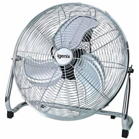 Igenix DF1800 Floor Standing Fan, 18 Inch, Air Circulator, High Velocity Free Standing Fan, 3 Speed, Ideal for Gym, Home, Garage and Office, Chrome