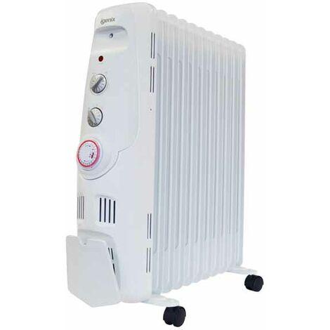 Igenix IG2655 Oil Filled Radiator, 2500W, 24h Timer