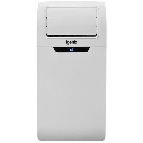 Igenix IG9901 3-in-1 Portable Air Conditioner with Cooling, Fan and Dehumidifier Function, 3 Fan Speeds with Sleep Mode, Remote Control and 24 Hour Programmable Timer, 9000 BTU, White�[Energy Class A]
