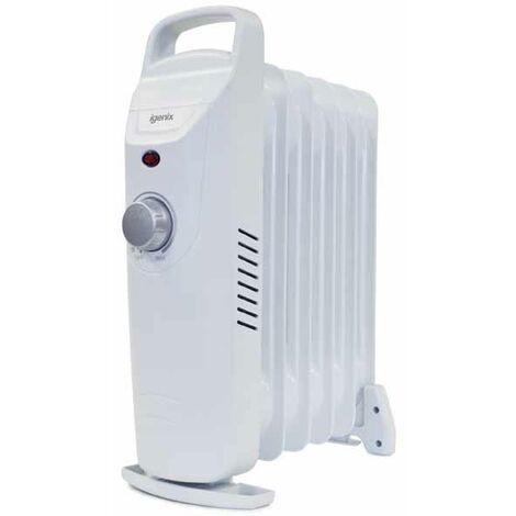 Igenix Small Oil Filled Electric Radiator, 800W, White- IG0500