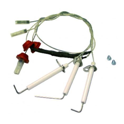 Ignition/flame sensing electrode ref 122255010 - ROCA BAXI : 122255010