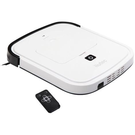 iiutec Robot Nettoyeur Ménager Aspirateur R-Cruiser Ultra Slim avec Télécommande (Blanc)