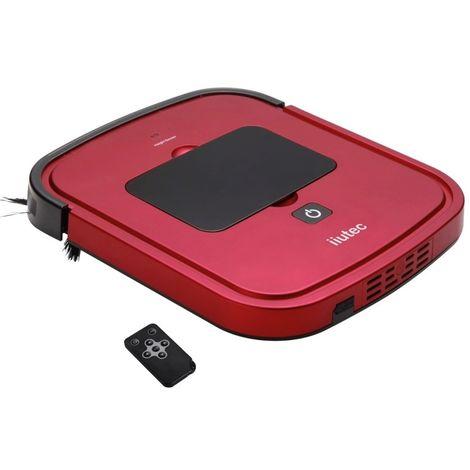 iiutec Robot Nettoyeur Ménager Aspirateur R-Cruiser Ultra Slim avec Télécommande (Rouge)