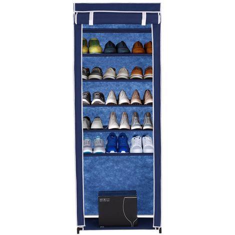 iKayaa, armario clasico de tela de 7 niveles para zapatos