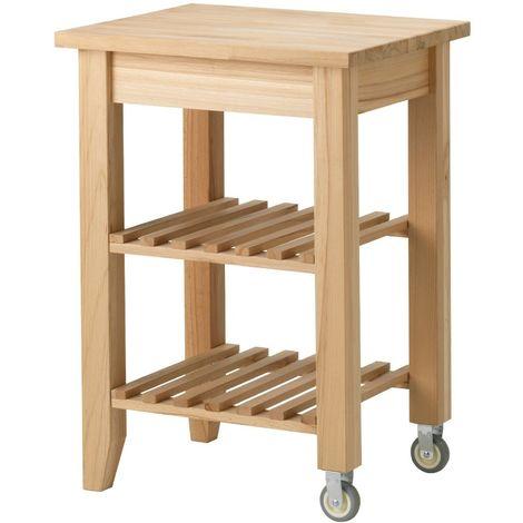 Carrello Ikea Cucina.Ikea Bekvam Carrello Cucina Con Ruote Cassetti E Portabottiglie Legno 58x50x85cm