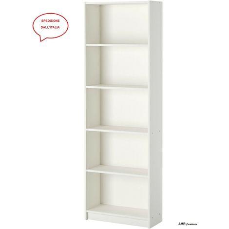 Ikea Libreria Metallo.Ikea Gersby Mobile Scaffale Libreria Per Casa Ufficio Bianco A Parete 60x180cm