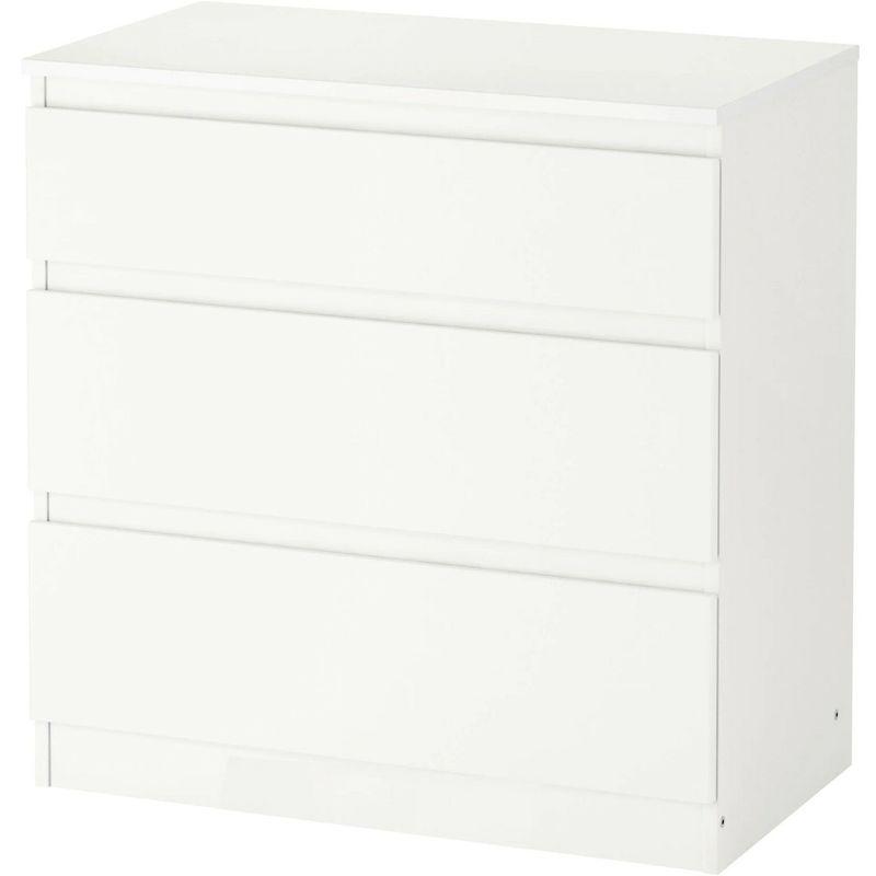 Cassettiere Ikea Con Ruote.Ikea Kullen Bianco Cassettiera Con 3 Cassetti Armadio Guardaroba 70x72 Cm Nuovo