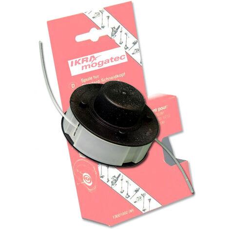 IKRA Bobine de rechange pour coupe-bordures et débroussailleuses - 2 x 4 mètres - diamètre 1,4 mm