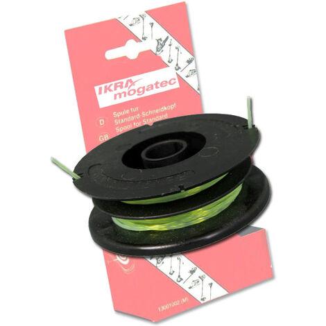 IKRA Bobine de rechange pour coupe-bordures et débroussailleuses - 2 x 5 mètres - diamètre 1,6mm