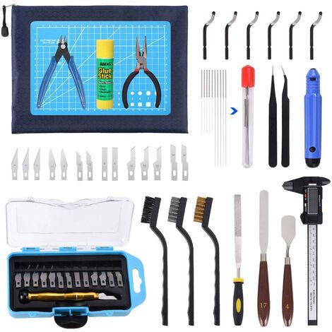 Il kit di strumenti per stampante 3D include kit di pulizia e smontaggio, taglierina per coltello da intaglio per la pulizia del modello e strumento di stampa 3D completo per pinze a pennello