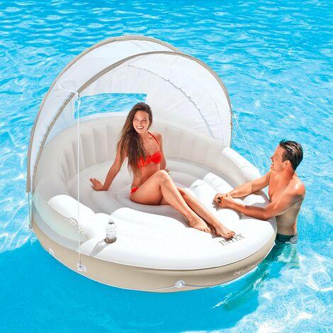 Île flottante Intex 58292 matelas gonflable piscine chaise longue
