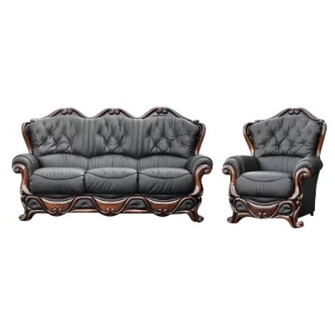 Illinois Sofa Set 3 Seater + Armchair Italian Leather Sofa Suite Settee Offer