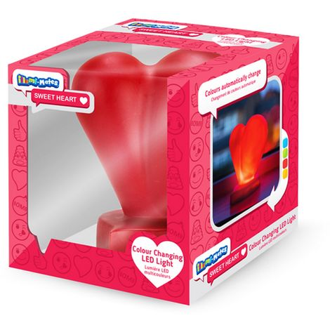 Illumi-Mates Official Childrens/Kids Emoji Colour Changing Bedside Lamp (One Size) (Sweetheart)
