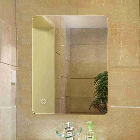 Illuminated Bathroom Mirror LED Light Sensor + Demister
