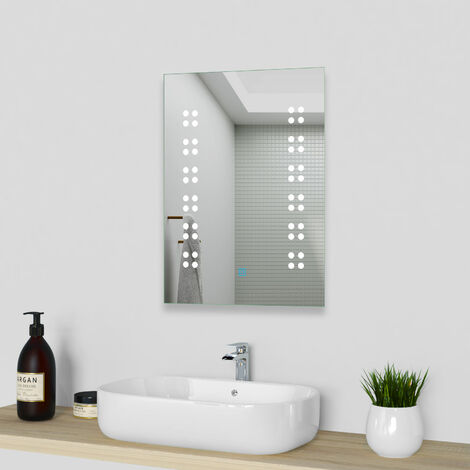 Illuminated Bathroom Wall Mirrors,Demister Pad Available,LED Lights,Portrait or Landscape,Touch Sensor