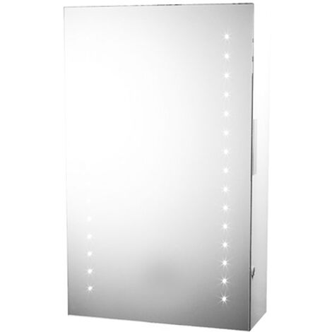Illuminated Mirror Cabinet with Shaver Socket - Portland by Voda Design
