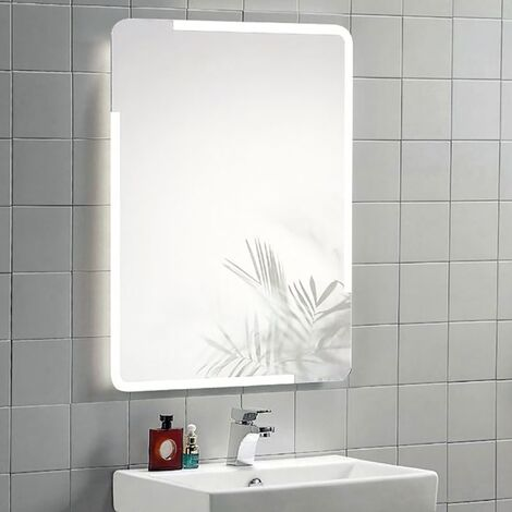 Illuminated Mirror with Demister & Touch Sensor - Drake by Voda Design