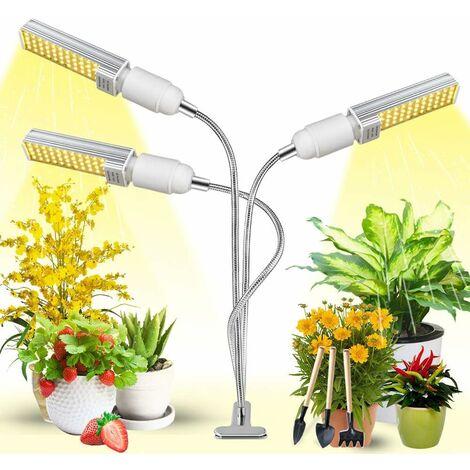 Illuminazione pianta, luce vegetale, luce di riempimento della pianta, luce di crescita della pianta 3 teste + set di utensili + adattatore