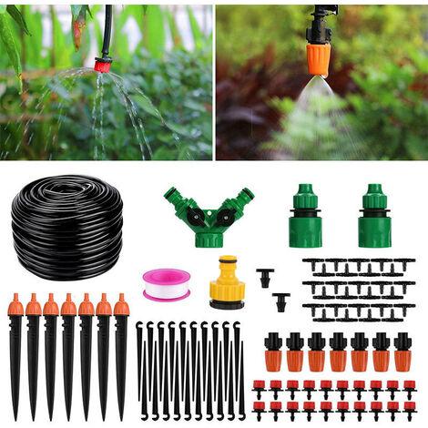 ILoveManoMano Arrosage Automatique Goutte a Goutte Kit Irrigation Micro Système d'Arrosage Automatique pour Jardin Pelouse Plante Paysage Potager Serre Terrasse Plate-Bande