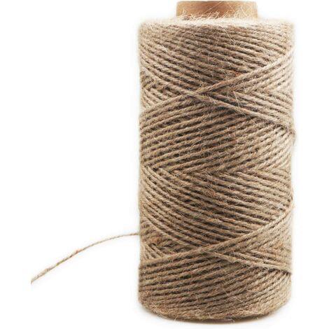 ILoveManoMano Corde de chanvre décoratif 3mm (200M corde de chanvre décoratif corde de sisal épaisseur rétro corde de jute fait à la main bricolage tag corde éclairage corde de chanvre corde de griffe de chat