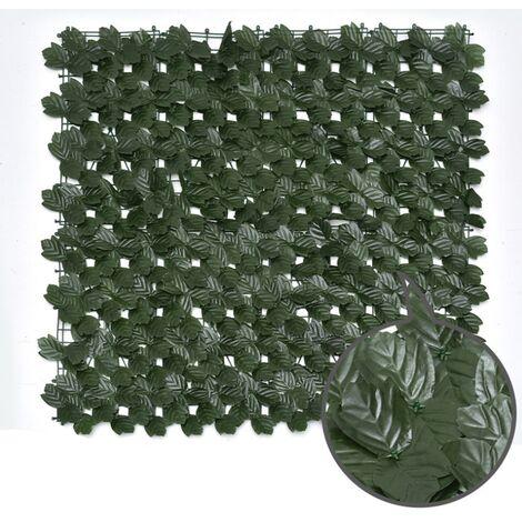 ILoveManoMano Plantes d'imitation Écran de clôture de confidentialité artificielle, clôture de haies artificielles et fausse décoration pour la décoration de jardin en plein air,1m X 1m, Feuille d'érable + 100 Pièces serre-câbles