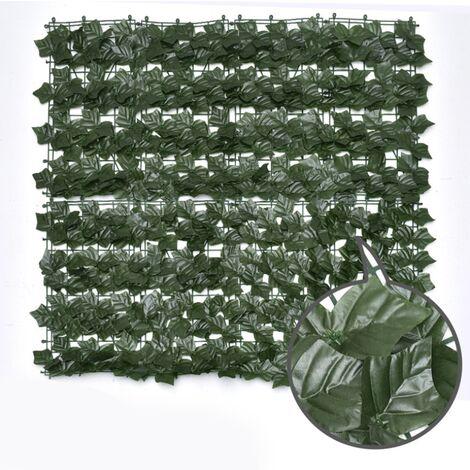 ILoveManoMano Plantes d'imitation Écran de clôture de confidentialité artificielle, clôture de haies artificielles et fausse décoration pour la décoration de jardin en plein air,1m X 1m, Feuilles de patate douce + 100 Pièces serre-câbles