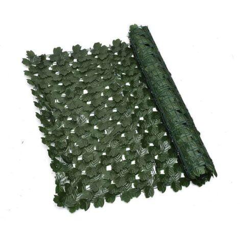 ILoveManoMano Plantes d'imitation Écran de clôture de confidentialité artificielle, clôture de haies artificielles et fausse décoration pour la décoration de jardin en plein air,1m X 3m, Feuille d'érable + 100 Pièces serre-câbles