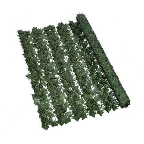 ILoveManoMano Plantes d'imitation Écran de clôture de confidentialité artificielle, clôture de haies artificielles et fausse décoration pour la décoration de jardin en plein air,1m X 3m, Feuilles de patate douce + 100 Pièces serre-câbles