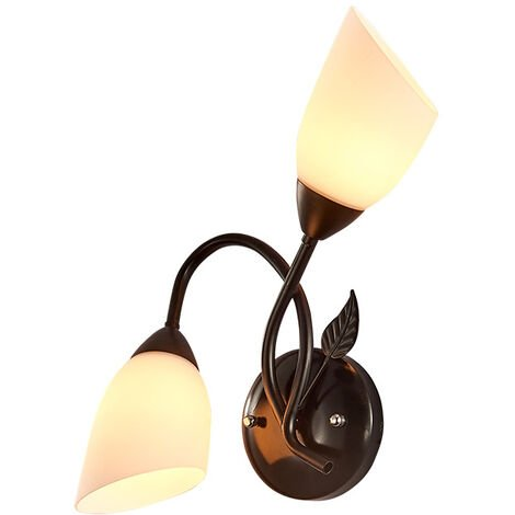 ILoveMilan Applique murale à LED nordique lampe de chevet de pays américain créatif fer Art couloir allée Foyer miroir lampe avant rétro tête unique
